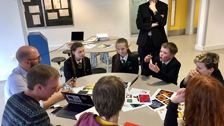 Clevedon School students found out about superbugs using virtual reality technology.