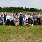 Wrington villagers campaigning against the development at Cox's Green with North Somerset MP Liam Fo