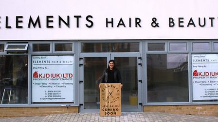 Natalie Charman outisde her new salon which will open in Portishead in April.
