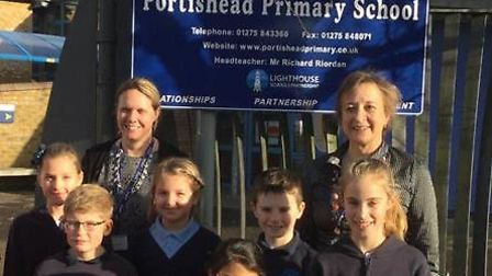 Portishead Primary School was rewarded with an E-Safety Mark this month.