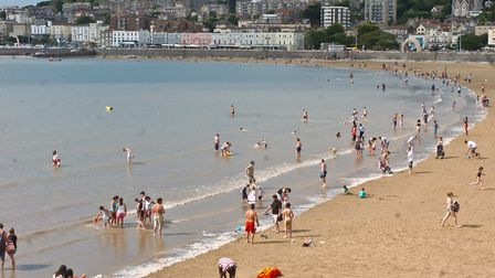 You can cool off from the hot sun by taking a dip in the sea at Weston beach.