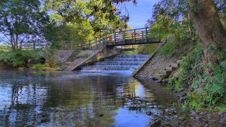 Congresbury Weir is on the River Yeo. Photo by James Griffiths.