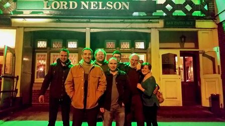 Members of the campaign to save the Lord Nelson.