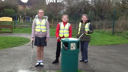 Trinity Primary School pupils carried out a litter-pick for one of their good deeds.