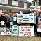 The Congresbury Residents' Action Group (CRAG). Photo by Jeremy Long.