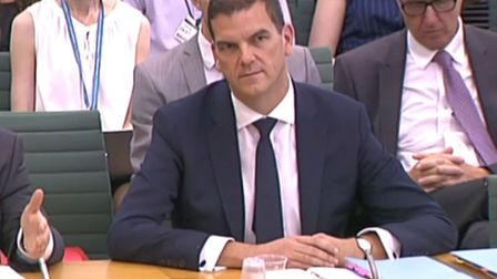 Olly Robbins gives evidence to the Commons Brexit Committee. Photograph: PA.