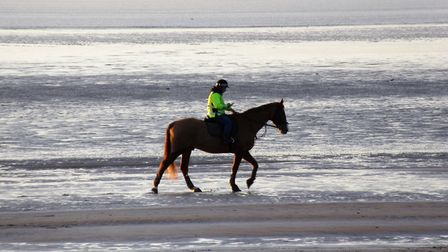 Horse riding is popular in Somerset.