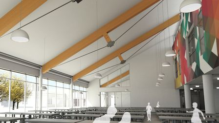 An aritst's impression of the new canteen.