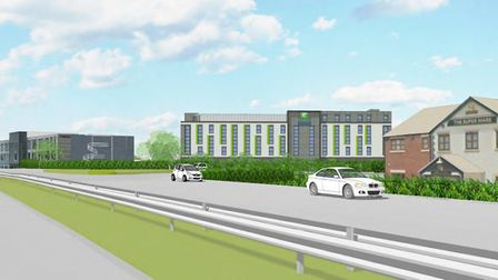 An artist impression of the hotel. Picture credit: Mountford Pigott and Dowlas UK