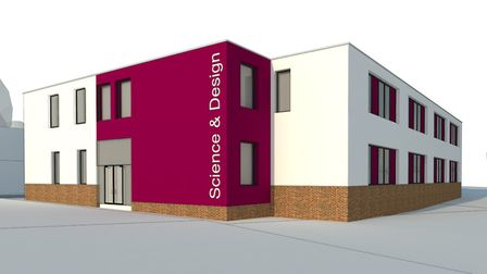 An artist's impression of Churchill Academy's new science block.