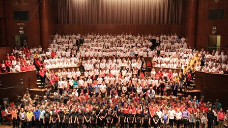 Pupils from schools across North Somerset performing at the Colston Hall.