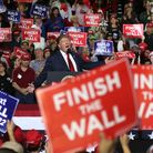 U.S. President Donald Trump speaks during a rally at the El Paso County Coliseum on February 11, 20