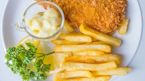 Fish and chips remain a firm pub favourite in Somerset.