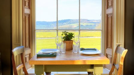 The dining room at Backwell House.