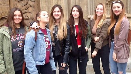 The Greek students were given a tour of Bath.