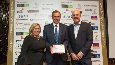 Martin Thatcher picking up two awards for Thatchers Cider.