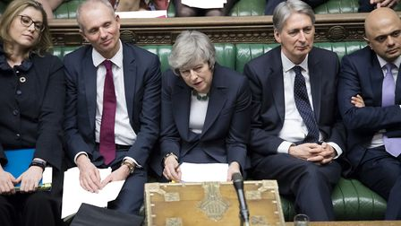 Prime Minister Theresa May in the House of Commons. Photograph: UK Parliament/Jessica Taylor/PA Wire