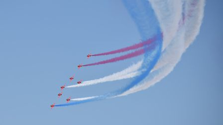 Red Arrows formation. Picture: Christopher Field
