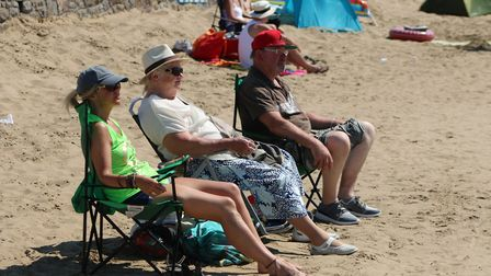 Weston Air Festival, spectacular displays both in the air and on the beach! Picture: Roger Fry