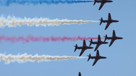 Red Arrows at the Weston Air Show 2017. Picture: Georgia Jones