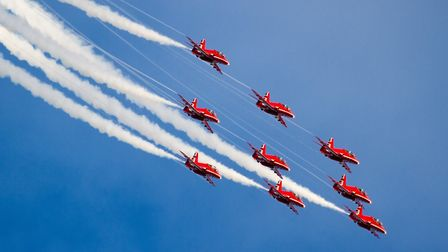 RAf Red Arrows. Picture: Paul Johnson