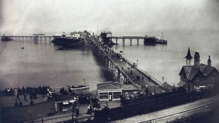 An Edwardian shot. The south jetty was built to accommodate ships at all stages of the tide but wasn