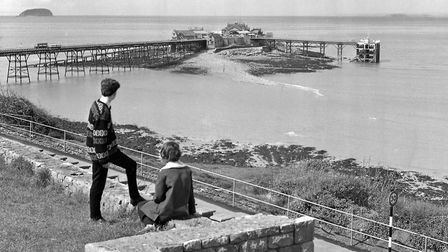 View of the Old Pier at Birnbeck in the 1960s.