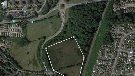 The land of Bridgwater Road where 70 new houses could be built. Picture: Google Maps