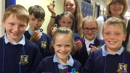 The figet spinners have put smiles on pupils faces at Mary Elton Primary School in Clevedon.