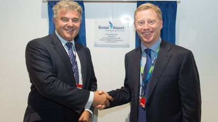 Bristol Airport had Immigration Minister Brandon Lewis open its expanded immigration hall alongside