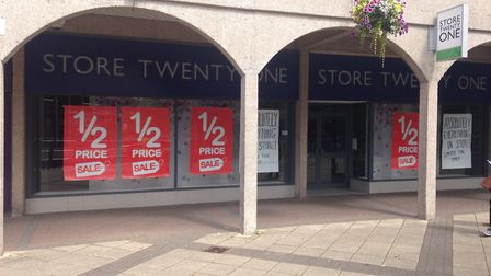 Store Twenty One in Nailsea closed on July 7.