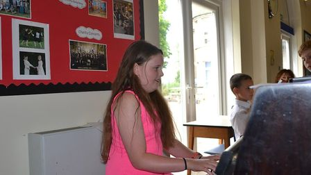 A piano performance featured in Fairfield's Got Talent.