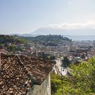 UNESCO World Heritage listed town of Berat, nicknamed 'Town of a Thousand Windows' due to the white