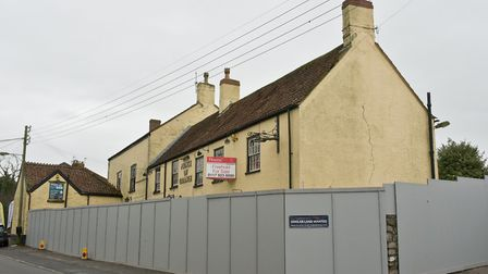 The pub has been boarded up for a number of months.