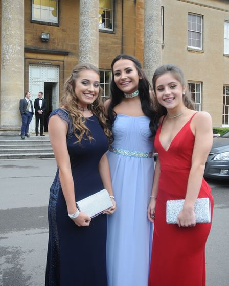 Students at St Katherine's School's prom, at Leigh Court in Abbots Leigh. Picture: Briana Millett