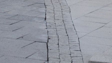 The 'uneven' paving at Church Square. Picture: Weston Civic Society