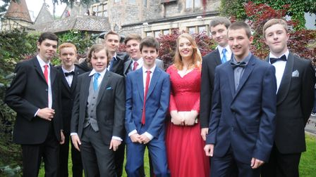 Backwell School students at DoubleTree by Hilton, Cadbury House for their year 11 prom. Picture: Bri