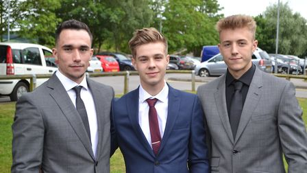 Gordano School pupils pose for the camera. Picture: Eleanor Young