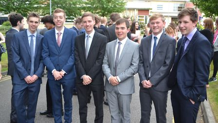 Male students found their inner James Bond for the evening. Picture: Eleanor Young