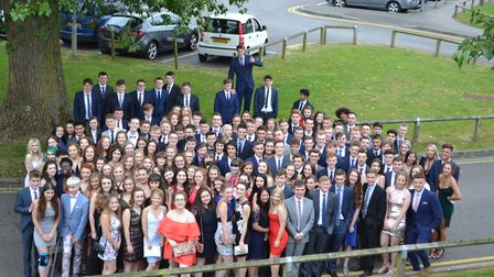 All the Gordano School pupils gather for a final picture. Picture: Eleanor Young