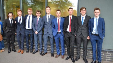Boys looked very suave in their suits at the Gordano School year 13 ball. Picture: Eleanor Young