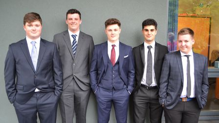 Suits and ties were the order of the day for many Gordano students. Picture: Eleanor Young