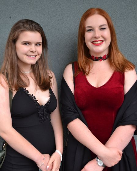 Friends smiled for photos at Gordano School. Picture: Eleanor Young