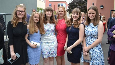 Pupils at Gordano School, in Portishead, wore their best dresses for the ball. Picture: Eleanor Youn