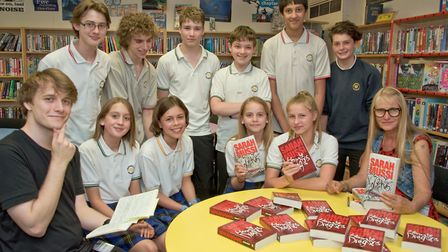 Pupils pictured with poet Antosh Wojcik and author Sasah Mussi.