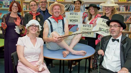 Backwell School Book Day, staff dressed in costumes.