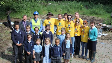 St Mary's Primary School's efforts were boosted by Taylor Wimpey.