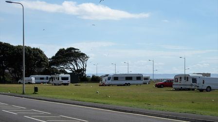 People are staying in caravans on Weston-super-Mare's Beach Lawns. Picture: Nick Page Hayman