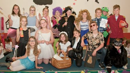 Trinity Primary School. Rehearsal of year 5/6 production Cinderella Rockerfella.