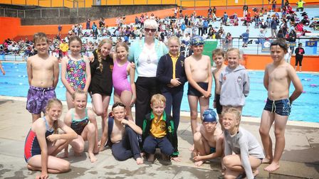 More than 250 children competed in the swimming gala. Picture: Portishead Open Air Pool